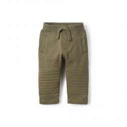 Baby Boy French Terry Moto Baby Pants | Tea Collection