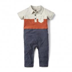 Polo Colorblock Polo Romper for Babies | Tea Collection