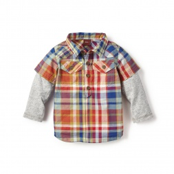 Cerro Plaid Double Decker Shirt for Baby Boys | Tea Collection
