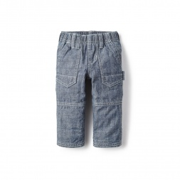 Chambray Roll-Up Pants for Baby Boys | Tea Collection