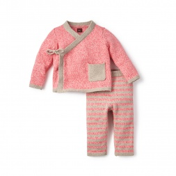 Cerro Bonete Pink Sweater Outfit for Baby Girls | Tea Collection