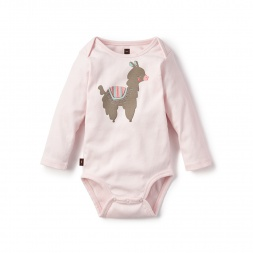 Pink Alpaca Linda Graphic Bodysuit for Baby Girls | Tea Collection