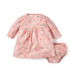 Pink Cerro El Fraile Baby Dress for Girls | Tea Collection