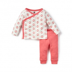 Pink Glaciar Rio Blanco Pink Outfit for Baby Girls | Tea Collection