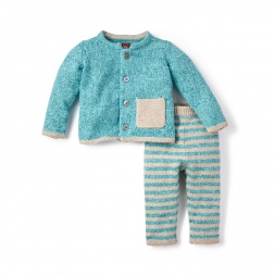 Cerro Bonete Blue Sweater Outfit for Baby Boys | Tea Collection