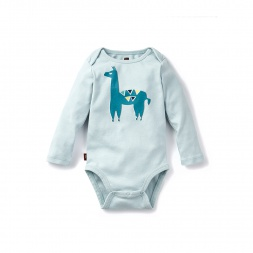 Blue Alpaca Alberto Graphic Bodysuit for Baby Boys | Tea Collection