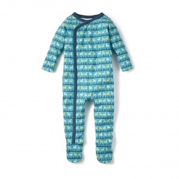 Green Manada de Alpaca Wrap Romper for Baby Boys | Tea Collection