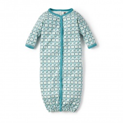 Green Rio Chubut Convertible Gown for Baby Boys | Tea Collection