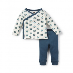 Blue Glaciar Rio Blanco Blue Outfit for Baby Girls | Tea Collection