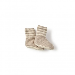 Cerro Bonete Taupe Socks for Babies | Tea Collection