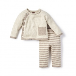 Cerro Bonete Taupe Sweater Outfit for Babies | Tea Collection