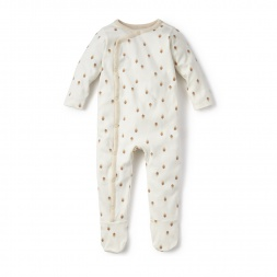 White Bebe Pluma Wrap Romper for Babies | Tea Collection
