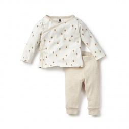 White Bebe Pluma Outfit for Babies | Tea Collection