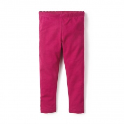 Pink Skinny Solid Leggings for Little Girls | Tea Collection