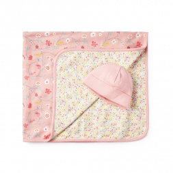 Pink Majadita y Fraile Blanket & Hat for Baby Girls | Tea Collection