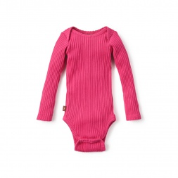 Pink Pointelle Bodysuit for Baby Girls | Tea Collection