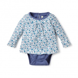 Azulito Bodysuit Top for Baby Girls | Tea Collection