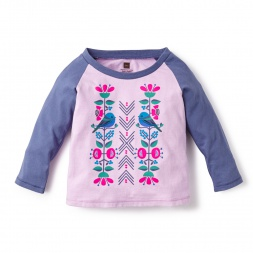 Pajarito Graphic Tee Shirt for Baby Girls | Tea Collection