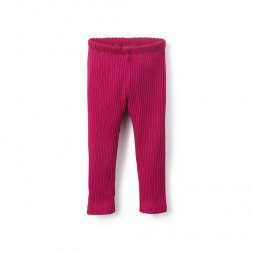 Pink Pointelle Baby Leggings for Girls | Tea Collection
