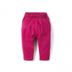 Pink French Terry Baby Pants for Girls | Tea Collection