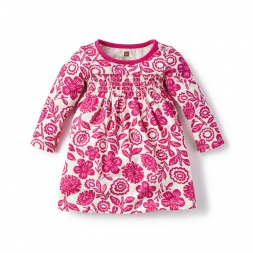 Pink Potosi Smocked Dress for Baby Girls | Tea Collection