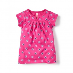 Pink Baby Girls Cotoca Split Neck Dress | Tea Collection