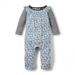 Poco Azul Double Decker Romper for Baby Girls | Tea Collection