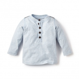 Blue Rio Yata Baby Henley Shirt for Baby Boys | Tea Collection