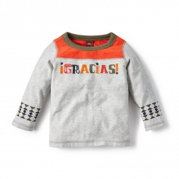 Gracias Graphic Tee Shirt for Baby Boys | Tea Collection