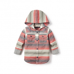 Rodriguez Button Hoodie for Baby Girls | Tea Collection