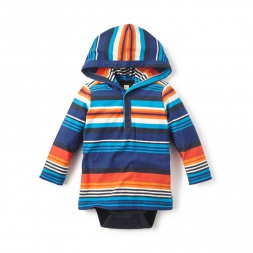 Mercado Stripe Bodysuit Hoodie for Baby Boys | Tea Collection