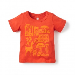 Baby Boys Pequeno Mercado Graphic Tee | Tea Collection