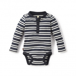 Striped Henley Bodysuit for Baby Boys | Tea Collection