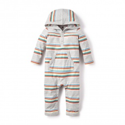 La Paz Hooded Romper for Baby Boys | Tea Collection