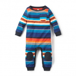 Mercado Stripe Romper for Baby Boys | Tea Collection