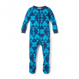 Blue Baby Totally Geo Baby Pajamas for Boys | Tea Collection