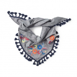 Aymara Embroidered Shawl for Little Girls | Tea Collection