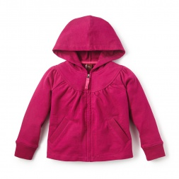 French Terry Zip Hoodie for Little Girls | Tea Collection