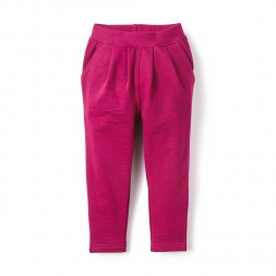 Pleated French Terry Pants for Little Girls | Tea Collection