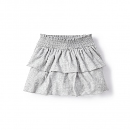 Gray Ready to Ruffle Skirt for Little Girls | Tea Collection