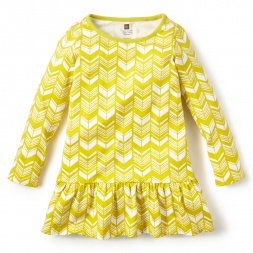 Girls Yellow Komani Ruffled Dress | Tea Collection