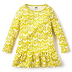 Girls Yellow Komani Ruffled Dress | Tea Collection