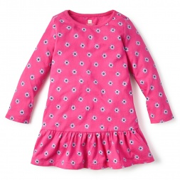 Pink Cotoca Ruffled Dress for Girls | Tea Collection