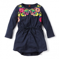 Long-Sleeve Rayen Embroidered Dress for Little Girls | Tea Collection