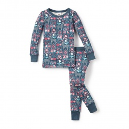 Blue Llama Fiesta Pajamas for Little Girls | Tea Collection