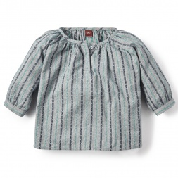 Blue Kamila Henley Top for Little Girls | Tea Collection