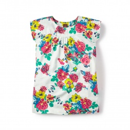 Floral Marina Twill Dress for Girls | Tea Collection