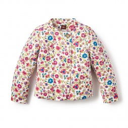 Little Girls Floral Mercado Rodriguez Jacket | Tea Collection