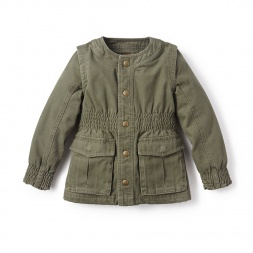 Green Adventure Jacket for Little Girls | Tea Collection