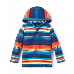 Little Boys Mercado Stripe Happy Hoodie | Tea Collection